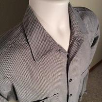 Patagonia Organic Cotton Mens Shirt Brown Plaid Long Sleeve Sz Medium M Photo