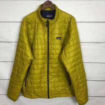 Patagonia Primaloft Nano Puff Jacket Size 2xl Xxl Men's Yellow Full Zip Light Photo
