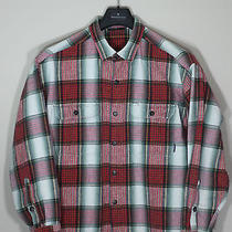 Patagonia Red Green Plaid Flannel Cotton Button Down Shirt Sz L Photo
