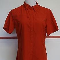 Patagonia Red/orange 100% Poly Short Sleeve Snap Front Shirt Sz 10 Great 13264 Photo