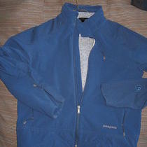 Patagonia Scythe Softshell Jacket Lined With R2 Men's Small Blue Photo