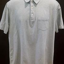 Patagonia Shirt Men's 100% Organic Cotton Blue Gray Stripe Polo Size Xl Photo