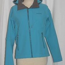 Patagonia Simple Hooded Full Zip Softshell Jacket Womens Medium Teal Photo
