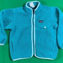 Patagonia Synchilla Fleece Full Zip Jacket Youth Kids Sz 5-6 Teal Blue Euc  Photo