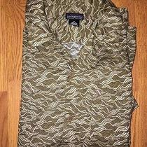 Patagonia  Sz M Organic Cotton Jumping Trout Fishing Fish Camp Shirt  Photo