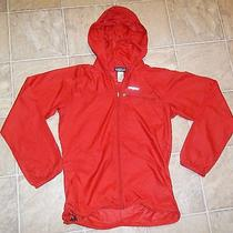 Patagonia Sz Xs Men's Hoodie Windbreaker Jacket Red Very Thin Euc Photo