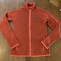 Patagonia Tomato Red Better Sweater Fleece Jacket Full Zip Women's Size Xs Euc Photo