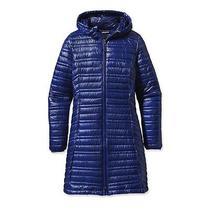 Patagonia Ultralight Fiona Parka W Hood 800 Down Coat Womens Viking Blue M 399 Photo
