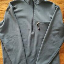 Patagonia Vintage Blue 1/2 Zip Pullover Sweatshirt W/pocket Mens Large Made Usa  Photo