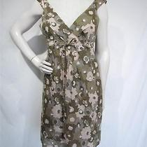 Patagonia Water Girl Brown Floral Organic Cotton Dress Medium M Photo