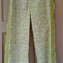Patagonia Water Girl  Pants Capris    Lime/ivory   Size - 6 Hawaiian Photo