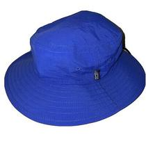 Patagonia Wide Brim Bucket Hat Safari Camping Cap Kids Large 3-6 Years Blue Photo