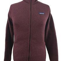Patagonia Women's Medium Better Sweater Fleece Jacket Burgundy Full Zip Photo