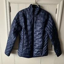 Patagonia Womens Micro Puff Jacket Medium Classic Navy Blue Photo