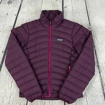 Patagonia Women's Purple Goose Down Insulated Quilted Sweater Jacket 84682 Sz Xs Photo