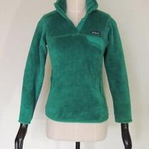 Patagonia Women's Re-Tool Snap-T Fleece Pullover Jacket Green Size Xs Photo