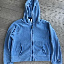 Patagonia Women's Retro Rhythm Deep Pile Fleece Hoodie Jacket Blue Medium Crop Photo