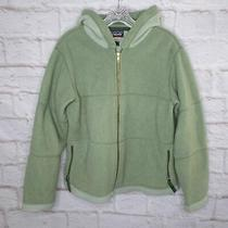 Patagonia Women's Size Large Green Synchilla Fleece Hoodie Jacket Photo