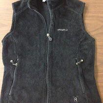 Patagonia Women's Size M Black Polartec Fleece Full Zip Vest  Photo