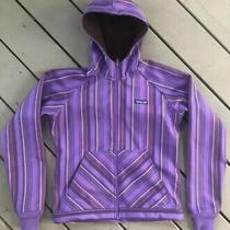 Patagonia Womens Soft Shell Fleece Canvas Jacket  Fall Small Purple Stripe Photo