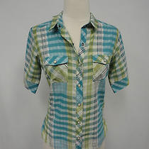 Patagonia Women's Sz 2 Plaid Shirt Top  Photo