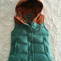 Patagonia Women's Sz Xs Bivy Hooded Down Vest Mogul Blue Mushroom Print J3010701 Photo