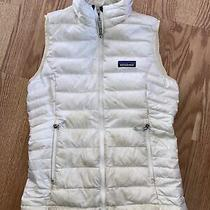 Patagonia Womens White Puffer Down Vest Jacket Size Xs Photo