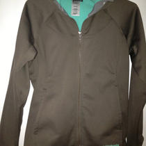 Patagonia Women Slopestyle Fleece Hoody Jacket Sable Brown Aqua Small Softshell Photo