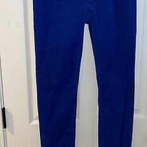 Patagonia Womens Fitted Corduroy Pants Royal  Blue Organic Cotton Sz 29 Tag 27 Photo