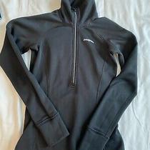 Patagonia Womens Fleece Zip Baselayer Shirt Black Xs Photo