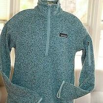 Patagonia Womens Partial Zip Blue Heather Fleece Jacket Pre-Owned Sz Small Photo