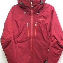 Patagonia Womens Primo Down Jacket Hooded Wax Red Nwt Retail 649 Small Gore-Tex Photo