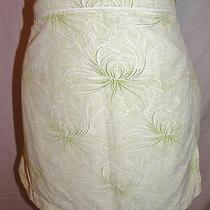 Patagonia Wrap Skirt 12 Green White Floral Nylon Lightweight Sarong  Photo