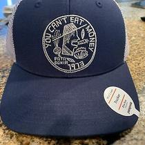 Patagonia You Cant Eat Money Trucker Hat - New With Tags - Classic Navy - 2018 Photo