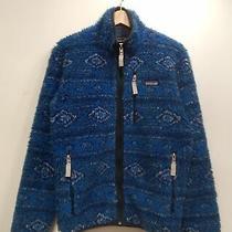 Patagonia Zip-Up Fleece Jacket Coat Xs Blue Men's Outer R0247 Photo