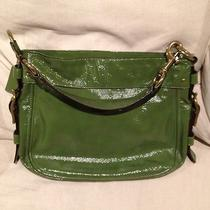 Patent Leather Green Coach Handbag Photo