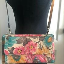 Patricia Nash Azario Floral First Bloom Leather Crossbody Wallet Purse Pink Photo