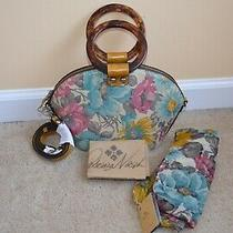 Patricia Nash Meldola First Bloom Leather Dome Satchel With Scarf Photo