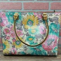 Patricia Nash Zancona Smooth Leather Handbag Tote First Bloom  Missing Strap Photo