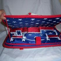 Patriotic Back Seat Tray Car Organizer Lots of Pockets  American Flag Avon Nip Photo