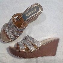 Patrizia Cinderella High Heel Wedge Platform Sandal Women's Sz8 Rose Gold  Photo