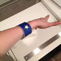 Paul Frank Blue Leather Wrist Band With Stars Photo
