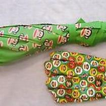 Paul Frank Child's Umbrella & Gardening Gloves- Green With Julius Monkey Photo