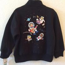 Paul Frank for Target 4t Boys Black Jacket Moon Monkeys Astronaut Space Band Photo