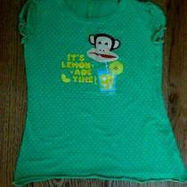 Paul Frank Girl's Green Polka Dot  Monkey Lemonade Tee Shirt -- X-Large 10 Photo