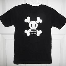 Paul Frank Industries Skull Crossbones Black White Logo Tee T-Shirt Shirt 3 3t Photo