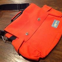 Paul Frank Industries Usa Messenger Style Computer Bag Briefcase Orange Photo