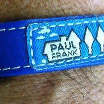Paul Frank Leather Snap Wrist Bracelet - Unisex Blue Julius Monkey  Photo