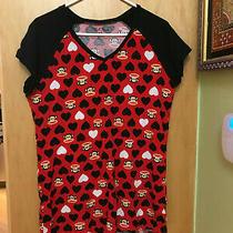Paul Frank Sleepwear Sleepshirt Monkey Red/black Xl Womens Intimates Photo