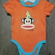 Paul Frank Small Paul Baby Newborn Bodysuit Monkey Party Orange Blue 3m Photo